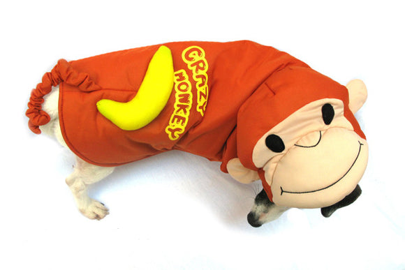 Crazy Monkey Dog Costume - Really Good Pets Shop - Costume -  - PuppeLove