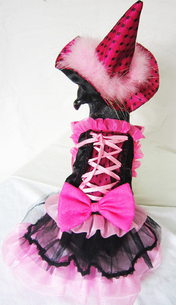 Pink Bow Dog Witch Costume with LED - Really Good Pets Shop - Costume -  - PuppeLove