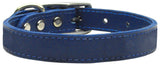 Plain Leather Dog Collar - Really Good Pets Shop - Leather Collar - 10 / Blue - Mirage Pet Products - 3