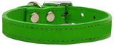 Plain Leather Dog Collar - Really Good Pets Shop - Leather Collar - 10 / Emerald Green - Mirage Pet Products - 4