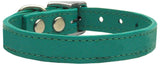 Plain Leather Dog Collar - Really Good Pets Shop - Leather Collar - 10 / Jade - Mirage Pet Products - 5