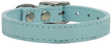 Plain Leather Dog Collar - Really Good Pets Shop - Leather Collar - 10 / Baby Blue - Mirage Pet Products - 6