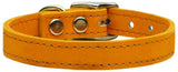 Plain Leather Dog Collar - Really Good Pets Shop - Leather Collar - 10 / Mandarin - Mirage Pet Products - 7