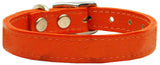 Plain Leather Dog Collar - Really Good Pets Shop - Leather Collar - 10 / Orange - Mirage Pet Products - 8