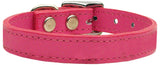 Plain Leather Dog Collar - Really Good Pets Shop - Leather Collar - 10 / Pink - Mirage Pet Products - 9