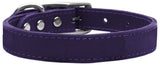 Plain Leather Dog Collar - Really Good Pets Shop - Leather Collar - 10 / Purple - Mirage Pet Products - 10