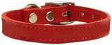 Plain Leather Dog Collar - Really Good Pets Shop - Leather Collar - 10 / Red - Mirage Pet Products - 11