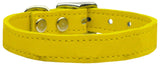 Plain Leather Dog Collar - Really Good Pets Shop - Leather Collar - 10 / Yellow - Mirage Pet Products - 12