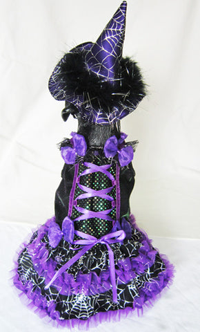 Purple Witch Dog Costume with LED - Really Good Pets Shop - Costume -  - PuppeLove