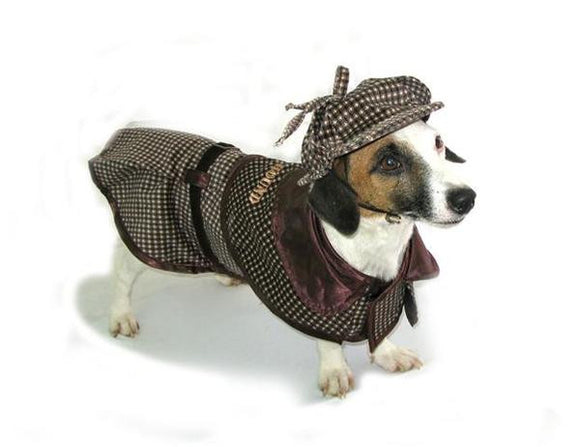 Sherlock Holmes Dog Costume - Really Good Pets Shop - Costume -  - PuppeLove