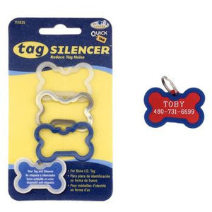 Bone Pet Tag Silencer 3 Pack - Really Good Pets Shop - Dog Tag -  - Pet Retail Supply