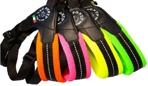 Mesh Neon Adjustable Belly Tre Ponti Dog Harness - Really Good Pets Shop - Harness -  - Tre Ponti - 1