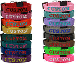 Custom and Personalized Embroidered Dog Collar - Really Good Pets Shop - Nylon Dog Collar -  - Mirage Pet Products - 1