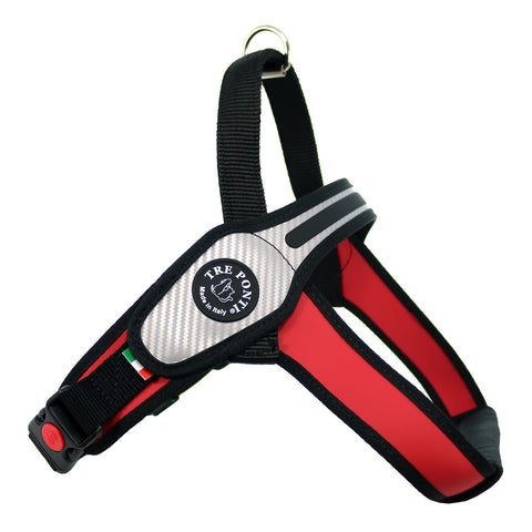 Primo Carbon Fiber Large Dog Tre Ponti Harness - Really Good Pets Shop - Harness - Medium / Red - Tre Ponti - 8
