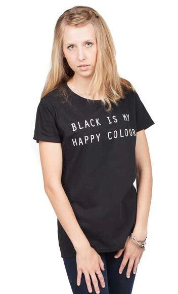 black is my happy colour t shirt armitee. Black Bedroom Furniture Sets. Home Design Ideas