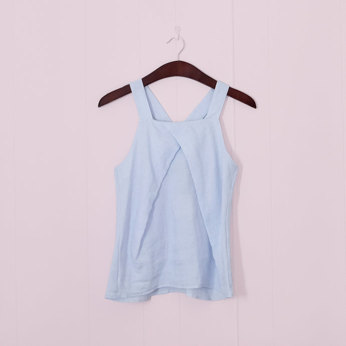 Acute Pleat Front Cami // Sky
