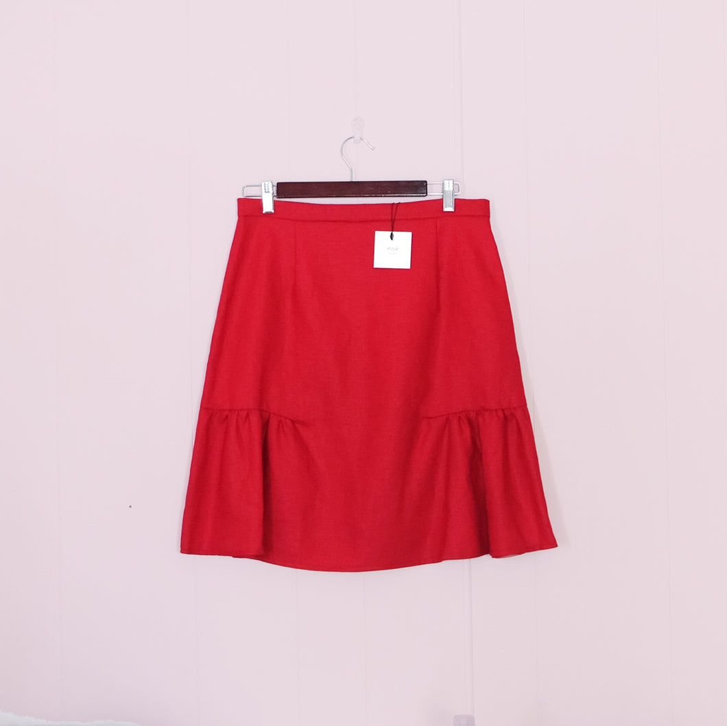 Kindred Linen Skirt // Ruby