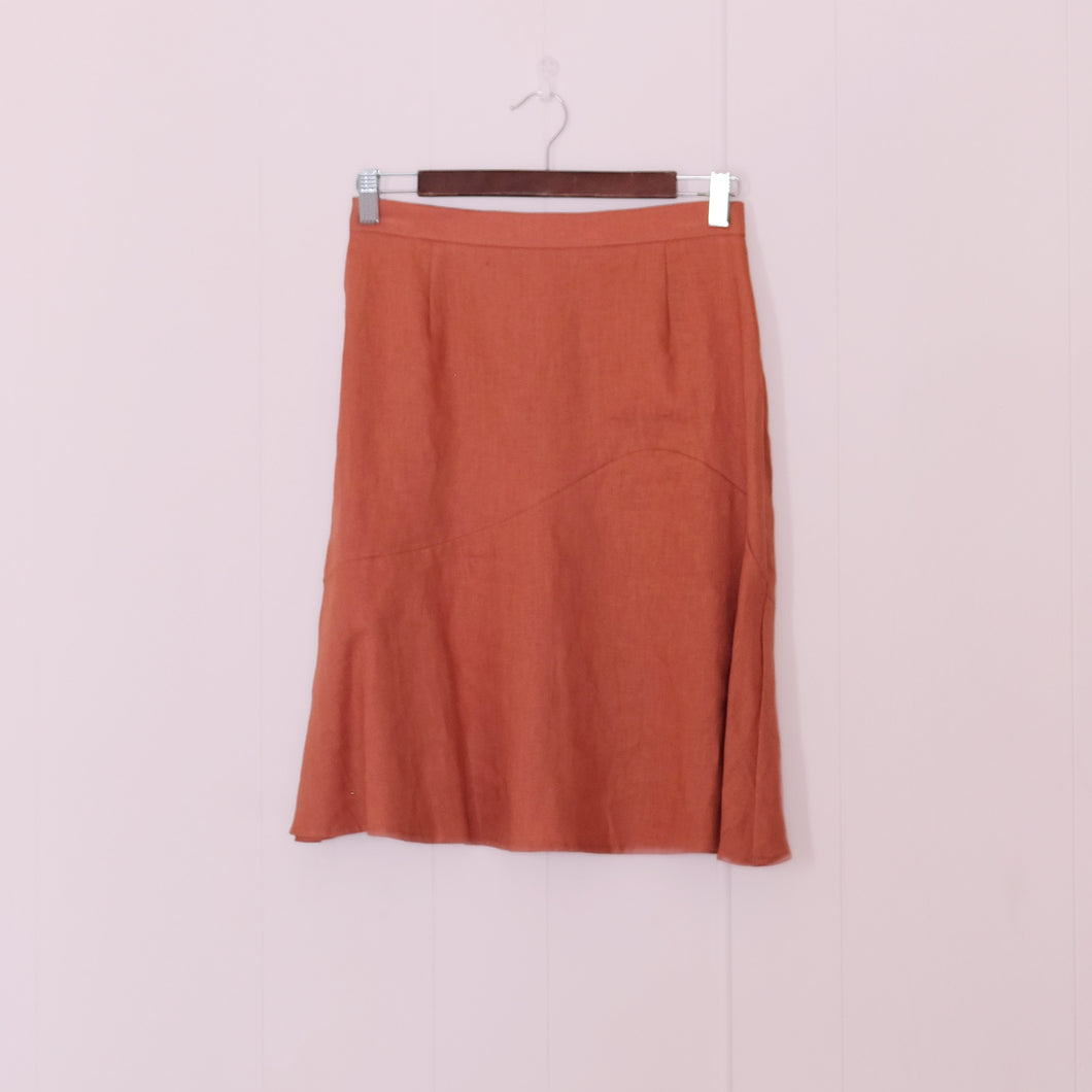 Flutter Linen Skirt // Clay