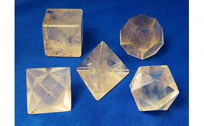 Platonic Solid Quartz Set