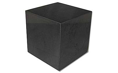 Shungite Polished Cube 1-1/4 inch