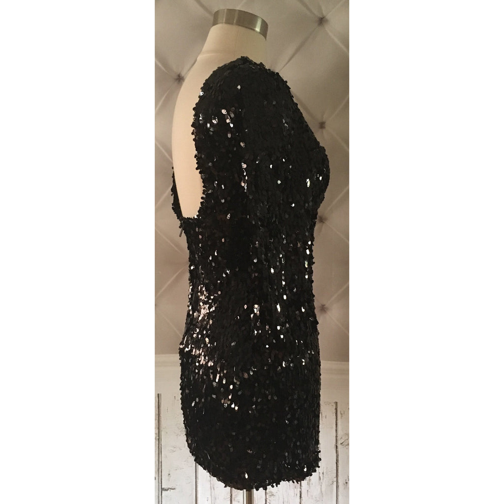 On Second Thought: Black Sequin Mini-Dress