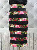 On Second Thought: Floral Ribbed Pencil Skirt