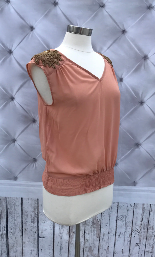 Sequined Top in Rose Gold