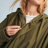 Army Green Trench Coat with Cape