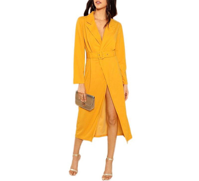 Yellow Trench Dress