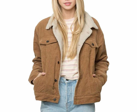 On Second Thought: Shearling Like Jacket with Double Front Pockets