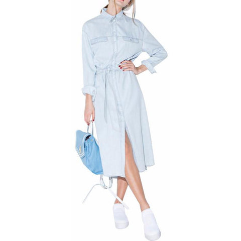 On Second Thought: Midi-Shirt Denim Dress