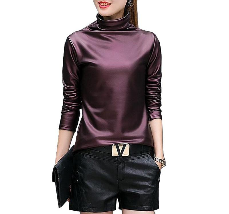 On Second Thought: Faux Leather Turtleneck