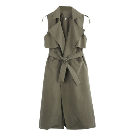 On Second Thought: Olive Midi Length Vest