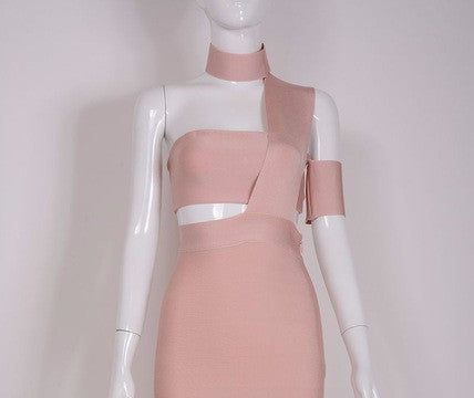 On Second Thought: Assymetric Bandage Dress