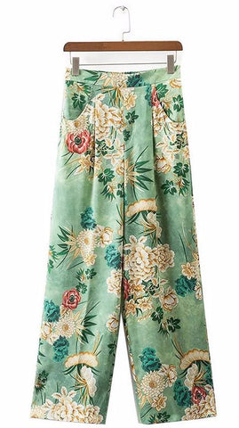 On Second Thought: Floral Vintage Print Kimono Pants