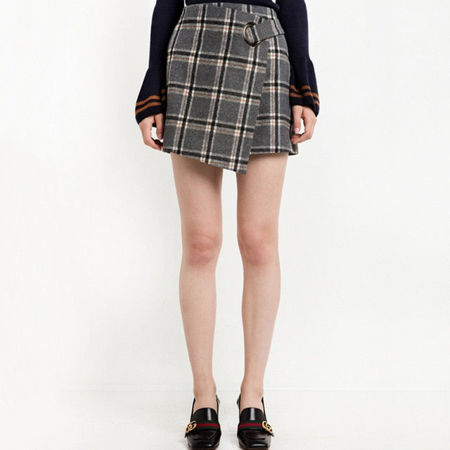 On Second Thought: Asymmetrical Plaid Skirt
