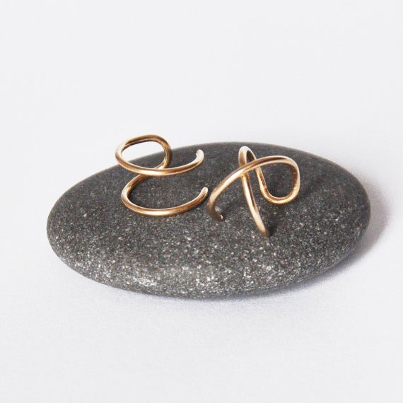 Criss Cross Ear Cuff in Sterling Silver, Gold or Rose Gold