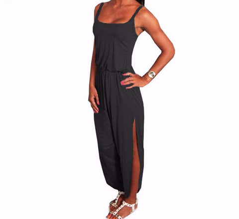 On Second Thought: Athleisure Romper w/ Side Slits