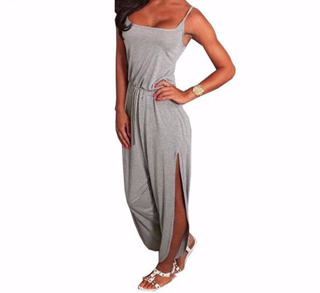 Athleisure Light Grey Romper