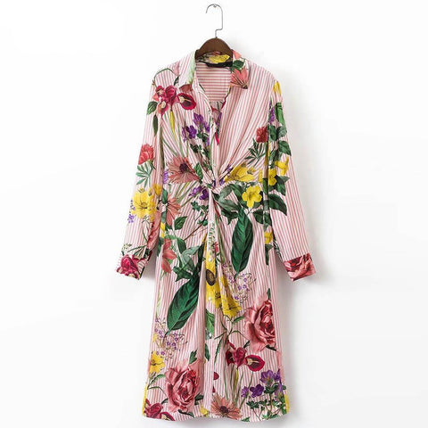 On Second Thought: Multi-color Shirt Dress in Floral