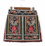 On Second Thought: Embroidery Patchwork Mini Skirt