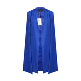 Trench Cape Duster in Blue