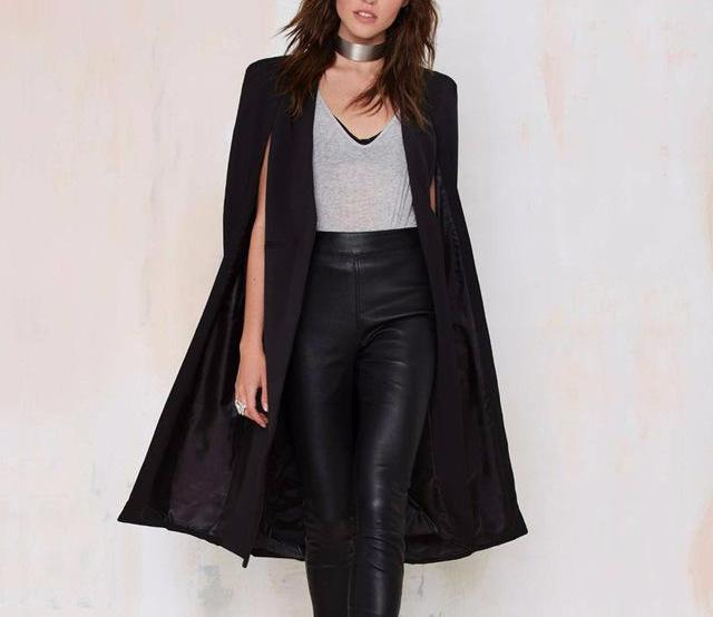 Trench Cape Duster in Black