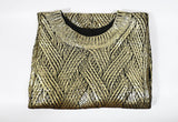 Gold Metallic Sweater