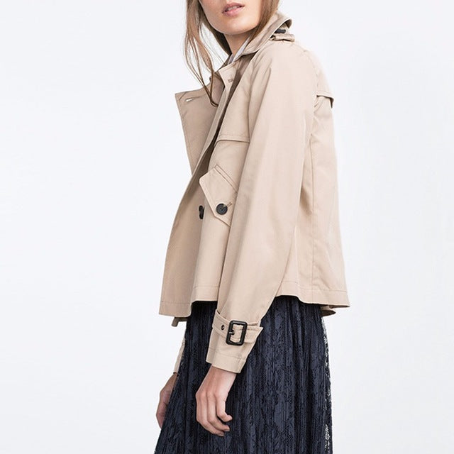 Crop Trench in Khaki
