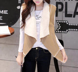 Shearling Vest in Tan