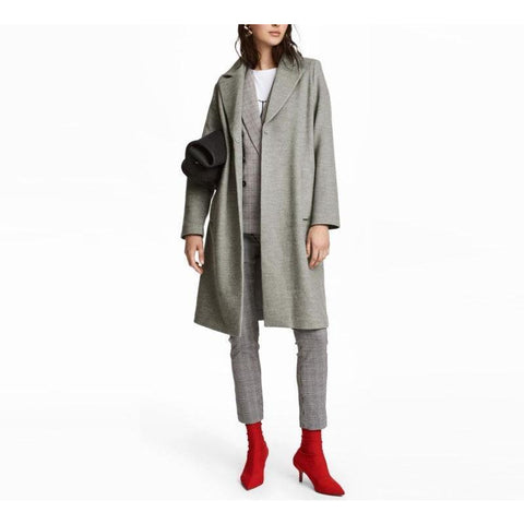 On Second Thought: Gray Trench Coat Long