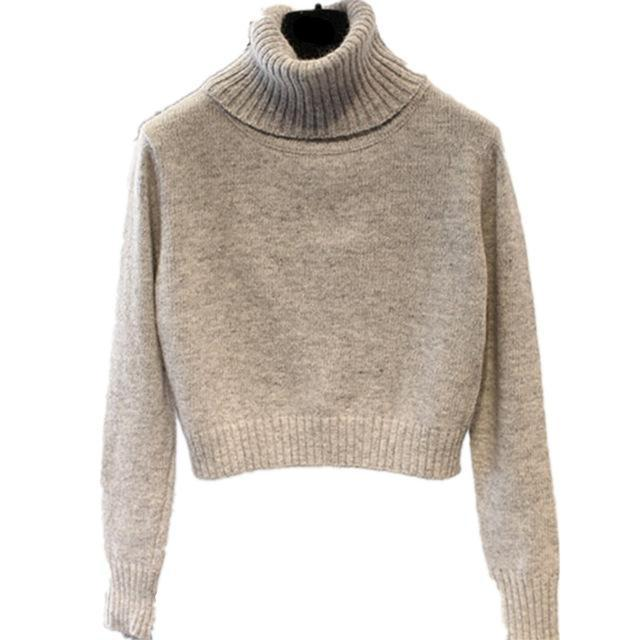 On Second Thought: Turtleneck Cropped Long Sleeve Sweater