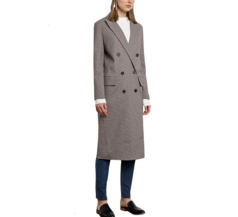 On Second Thought: Grey Plaid Blazer Trench Coat