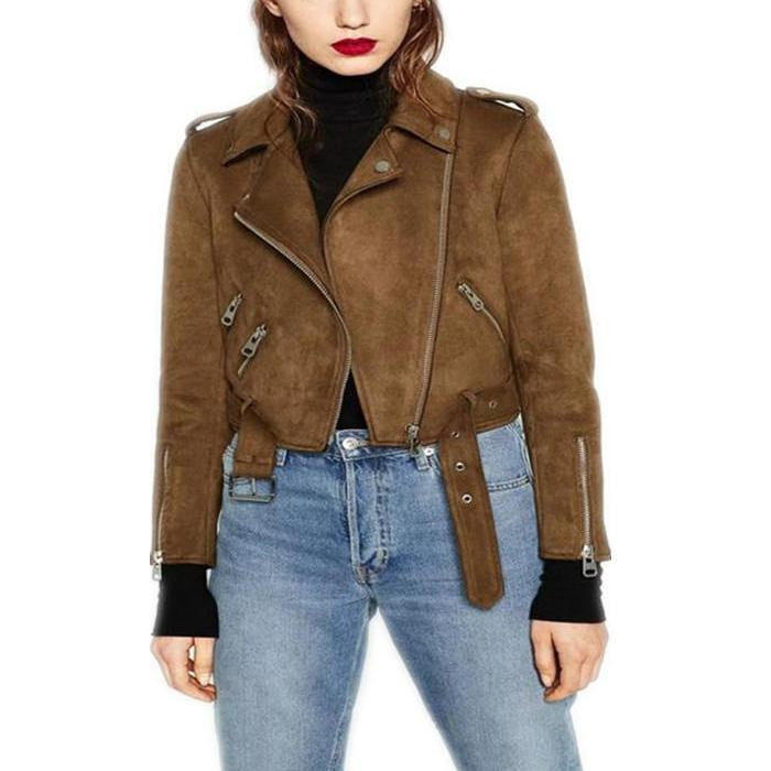 Biker Jacket in Brown